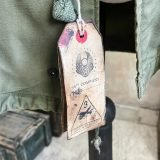 Vintage Hand Painted, WWII Spearhead 3rd armored division, M65 Field Jacket, military ribbons